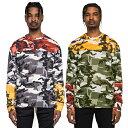 【半額 50%OFF 楽天スーパーSALE 2倍ポイント】 EPTM エピトミ Camouflage Long Sleeve T-shirt カモフラージュカラーブロック長袖Tシャツ COLOR BLOCK CAMO L/S TEE [EP8790/EP8791] INNER インナー TOPS トップス トレンド TREND 通販 オシャレ かっこいい モテる