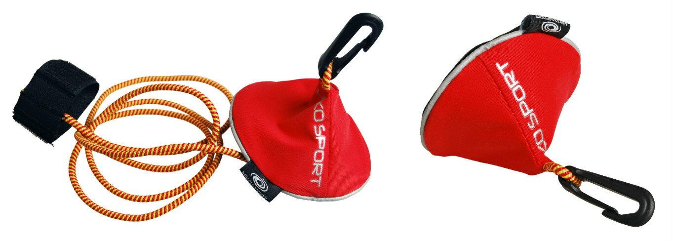 Hikoパドルリーシュ・フレクシィプラスパドルの流失を防ぐ伸縮性のあるコード収納に便利なバッグ付き/