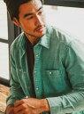 [Rakuten Fashion](M)TCコーディロイシャツ BAYFLOW ベイフロー シャツ/ブラウス 長袖シャツ グリーン グレー ピンク ブラウン【送料無料】