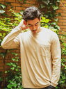 [Rakuten Fashion](M)オーガニックロンTLS BAYFLOW ベイフロー カットソー Tシャツ ベージュ グレー ネイビー ホワイト【送料無料】