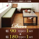 日本製ユニット式畳ボックス収納 【Diver】 ディバー 幅90タイプ(1体)+幅180タイプ(1体)セット | コレクションケース 木製 ディスプレイケース ディスプレイラック ボックス 収納(代引不可)