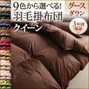 【送料無料】 9色から選べる 羽毛布団 グースタイプ 掛け布団 クイーン クィーンサイズ (掛