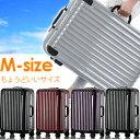 ☆スーツケース Mサイズ4〜8日用 中型 鏡面タイプ 送料無料 1年保証付き