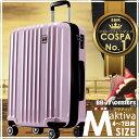 スーツケース キャリーケース キャリーバッグ AKTIVA アクティバ Mサイズ Wキャスター 中型 軽量 ファスナー開閉
