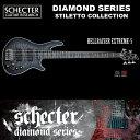 シェクター SCHECTER ベース / HELLRAISER EXTREME 5 | AD-HR-EX-BASS-5 ヘルレイザーエクストリーム ブラック(黒) ダイヤモンドシリーズ 2016年モデル 送料無料