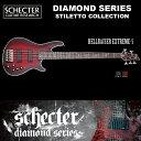 シェクター SCHECTER ベース / HELLRAISER EXTREME 5 | AD-HR-EX-BASS-5 ヘルレイザーエクストリーム レッド(赤) ダイヤモンドシリーズ 2016年モデル 送料無料