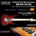シェクター SCHECTER JAPAN / NV-DX-24-AS LDSB レモンドロップサンバースト FD System搭載 | シェクター・ジャパン SDデラックスシリーズ エレキギター 指板選択可 送料無料