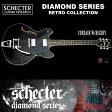 シェクター SCHECTER / CORSAIR W/BIGSBY コルセア ビグスビー BLK AD-CSR/B / セミアコ ブラック ダイヤモンドシリーズ 送料無料