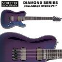 シェクター SCHECTER / HELLRAISER HYBRID PT-7 ブルー(青) ヘルレイザー・ハイブリッド PT7 ダイヤモンドシリーズ 7弦 テレキャスター・タイプ エレキギター 送料無料