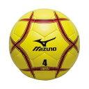 3240円で送料無料 ミズノ サッカーボール 4号 検定球 ライム×レッド×ブラック 12OS37037 取寄