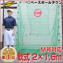 最大12%引クーポン 野球 練習 ネット 軟式用 2×1.6m ターゲット・固定用ペグ付き 打撃 バ