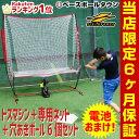 野球 練習 電池おまけ エンドレス打撃練習マシン トスマシン+専用ネット+穴あきボー