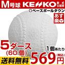 ナガセケンコー お得な5ダース売り(60個) 軟式野球ボール M号 一般・中学生向け メジャー 検定球 ダース売り 新公認球 3MP5 M球