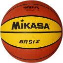 バスケットボール ミカサ ミニバスケットボール 検定球5号 茶/クリームイエロー BR512 取寄