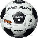 【サッカー館】名入れ可(有料) モルテン サッカーボール ペレーダ5000土用 5号球 スノーホワイト×メタリックブラック F5P5001
