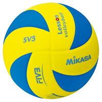 最大10%引クーポン バレーボール ミカサ mikasa レッスンバレー5号軽量約180g 青/黄 SV5-YBL 取寄の画像
