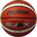 【最大10%OFFクーポン】モルテン ミニバスケットボール GJ5X 5号 検定球 オレンジ×アイボリー BGJ5X あす楽
