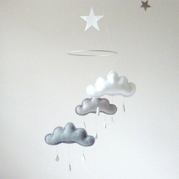 The Butter Flying 雲のモビール ベッドメリー モビール (SHINTO)