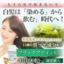 白髪サプリ ブラックアゲイン EX 30日分 (90粒入り)...