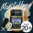 【[UMF20+]スーパーフード マヌカハニー 250g×2個 送料無料 ニュージーランド産 マヌカハニー なめらかでキャラメルのようなおいしい スーパーフード マヌカハニー】