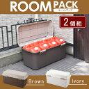 ルームパック880【2個セット】【プラスチック製 ベランダ 屋外 屋内 収納ボックス ストッカー】
