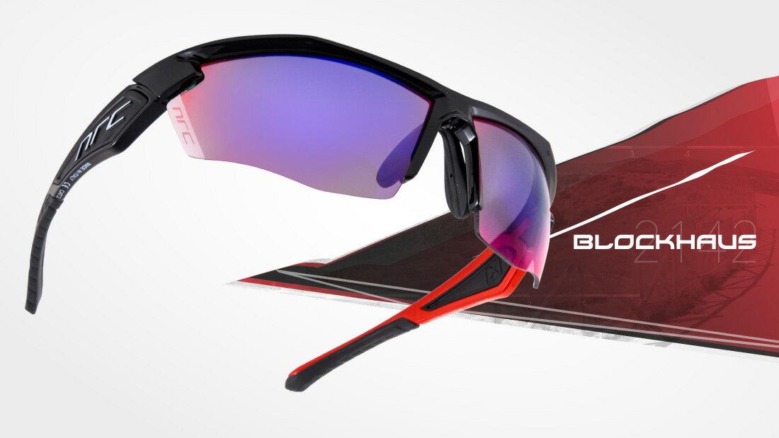 サングラスイタリアブランドNRC occhiali X5.BLOCKHAUS自転車競技、他様々なスポーツに! スポーツサングラス ノーズパッドは調節可能!超フィットサングラス高機能レンズ!
