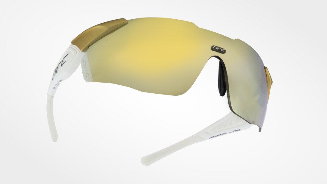 サングラスイタリアブランドNRC occhiali X1.WHITE LIGHT自転車競技、他様々なスポーツに! スポーツサングラス ノーズパッドは調節可能!超フィットサングラス高機能レンズ!