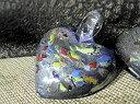 ショッピングガラス ガラス ペンダントトップ 大−63(フック付き)/ガラス ハート ペンダントトップ ガラスペンダント製作用 ガラスネックレス製作用ガラスビーズ ガラスアクセサリーパーツ