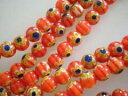 とんぼ珠 丸珠赤6mm 1本台湾先住民の伝統的な手工芸品古来より珍重されるアクセサリーパーツとんぼ珠スワロフスキー・ベネチアガラス・チェコビーズにも並ぶアジアの誇りペンダントネックレス・ピアスを♪
