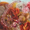 Laciq Beads ハンドメイドキット ワインローズのネック&イヤー /ビーズキット/アクセサリー/ウェディング/ブライダル/ジュエリー/結婚/作り方/パーティ/ウエディング/ビーズ キット 【あす楽対応】 【送料無料】