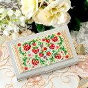 手作りキット 【春特集】 〜イチゴ〜カードケース ビーズマニア ビーズキット ステッチ ペヨーテ デ