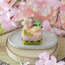 手作りキット ビーズで編みぐるみ・カットケーキ〜No3. 桜〜 ビーズマニア