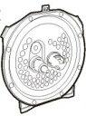 C142-6B 象印炊飯器内ふた NP-SB10、NP-SS10用の内ふた 内蓋 内ぶた(放熱板) 炊飯ジャー 純正部品 消耗品