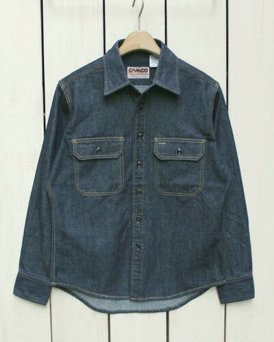 CAMCO Long Sleeve Denim Work Shirts 6.5oz Denim / Made in Japan カムコ デニム ワーク シャツ / 長袖 日本製 camco standard カムコ