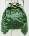 Corinth MFG. CO. N-2B Flight Jacket / military Green / coyote fur hood deadstock made in usa コリンス N2B フライト ジャケット ..