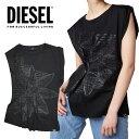 ディーゼル DIESEL レディース トップス T-SOFYA ノースリーブ ギャザートップス Tシャツ かわいい かっこいい 海外ブランド インポート