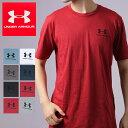メンズ アンダーアーマー UNDER ARMOUR 男性 紳士 半袖 Tシャツ LEFT CHEST SS 1326799 ランニング ジョギング ヒートギア*