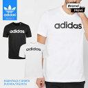 【サイズ交換1回無料】アディダス メンズ Tシャツ 半袖 エッセンシャル リニア ロゴ 白 黒 シンプル トップス インナー シャツ adidas ESSENTIALS T-SHIRTS