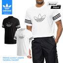 【サイズ交換1回無料】アディダス Tシャツ メンズ オリジナルス トレフォイル ロゴ トップス 白 黒 半袖 シャツ 3ストライプ adidas Originals TREFOIL LOGO T-SHIRTS