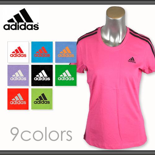 アディダス スポーツ Tシャツ レディース 綿100% adidas T-SHIRTS ウィメンズ *