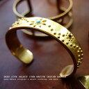 メール便対応 バングル メンズ ブレスレット 真鍮 ネイティブ 民族調 アンティークゴールド ブラス...