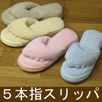 Five finger slippers / finger Goro gift / present