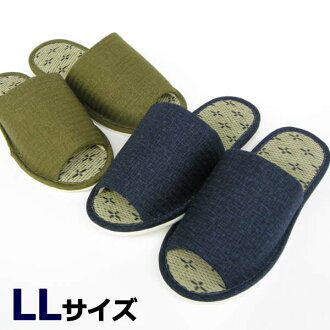 花goza 拖鞋 LL [可水洗拖鞋拖鞋拖鞋] [巨型尺寸或草榻榻米]