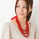 ポーランド民族衣装 赤いネックレス コラレ korale 57cm