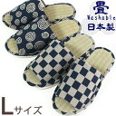 スリッパ 藍染風 い草 たたみ スリッパ  和柄 メンズLサイズ洗えるたたみ Slippers 畳 夏用 日本製