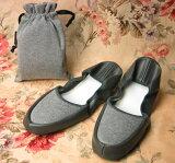 移动拖鞋/☆★纯灰色[携帯スリッパ/プレーン グレー★☆]