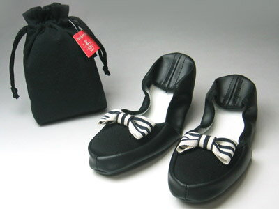 Portable slippers / striped