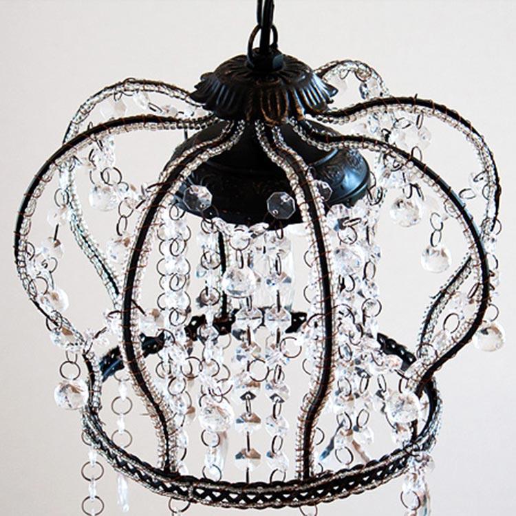 【LED電球対応】プチシャンデリア 1灯アンティークデザイン シャンデリア クラウン [C…...:beaubelle:10001458