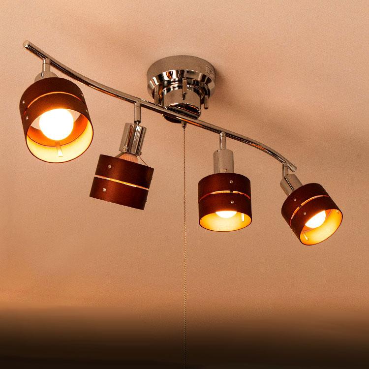 1000円クーポン獲得可★シーリングライト LED対応 スポットライト 4灯 天井照明 照…...:beaubelle:10000831