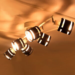 【送料無料】リモコン付スポットライト 6灯 ソアラ[soarer] [電球型蛍光灯・LED対応]【シーリングライト スポット照明 天井照・・・
